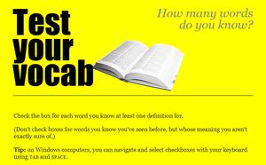 Как узнать сколько английских слов я знаю —  лучший сайт для теста