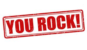 You rock — перевод с английского