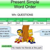 Present-simple word-order