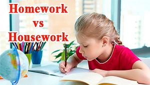 Housework vs Homework — значение
