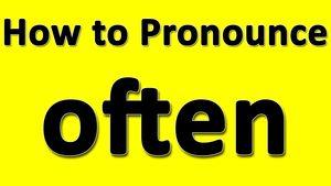 Произношение слова Often — Amer vs Bre
