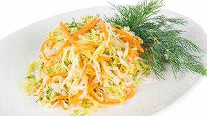 Рецепты на английском: Салат из свежей капусты