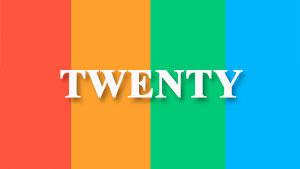 Twenty —  британский и американский акцент — слушать