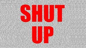 «Заткнись» слушать аудио произношение