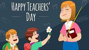 Поздравления и открытки с Днем Учителя на английском языке