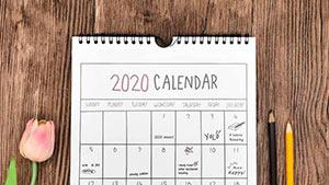 Календарь 2020 на английском языке