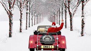 Песня Driving Home For Christmas — русскими буквами