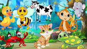 Детские стишки на английском про животных с  переводом и транскрипцией